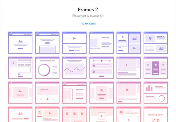 Frames 2 Flowchart Layout Kit Wireframe Kits On Ui8