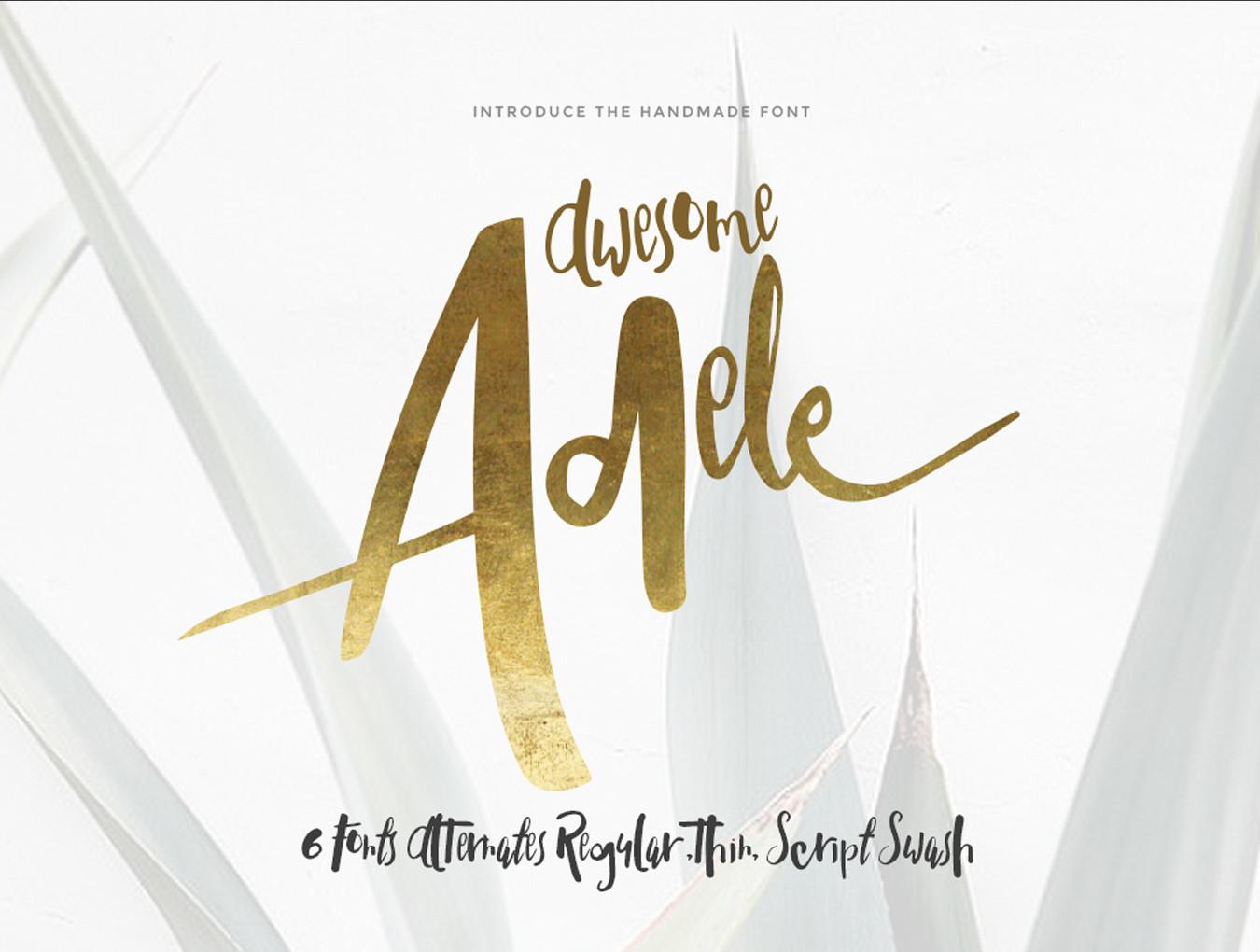 Adele — Fonts on UI8