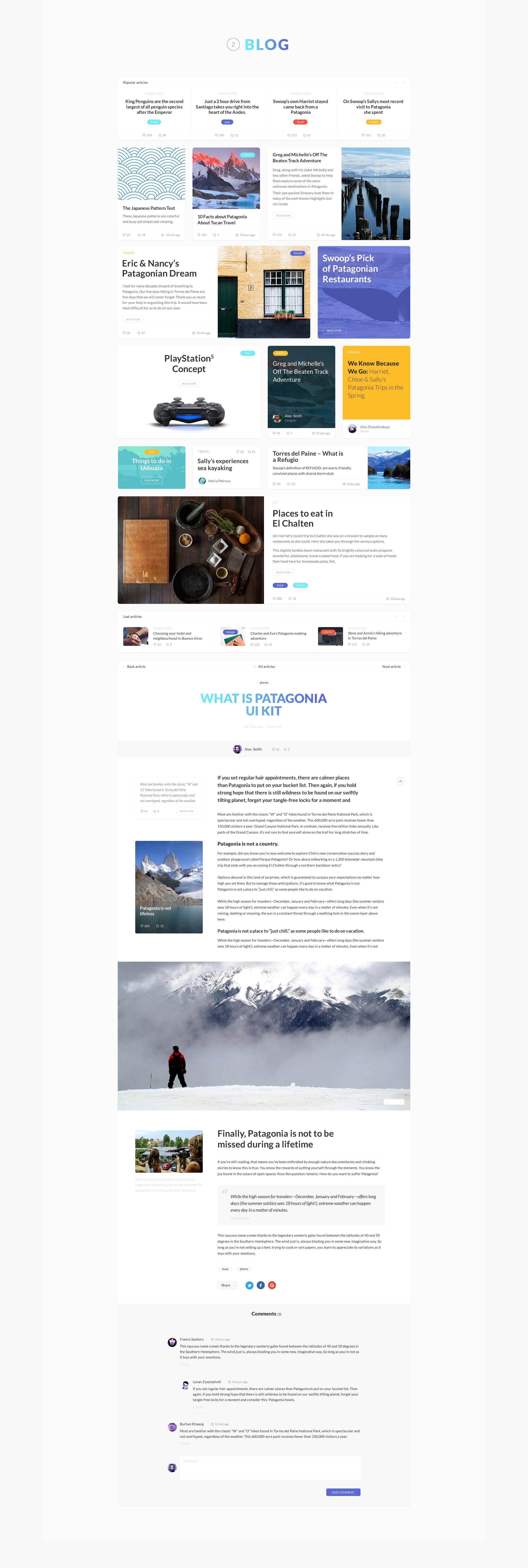 Patagonia UI Kit — UI Kits on UI8