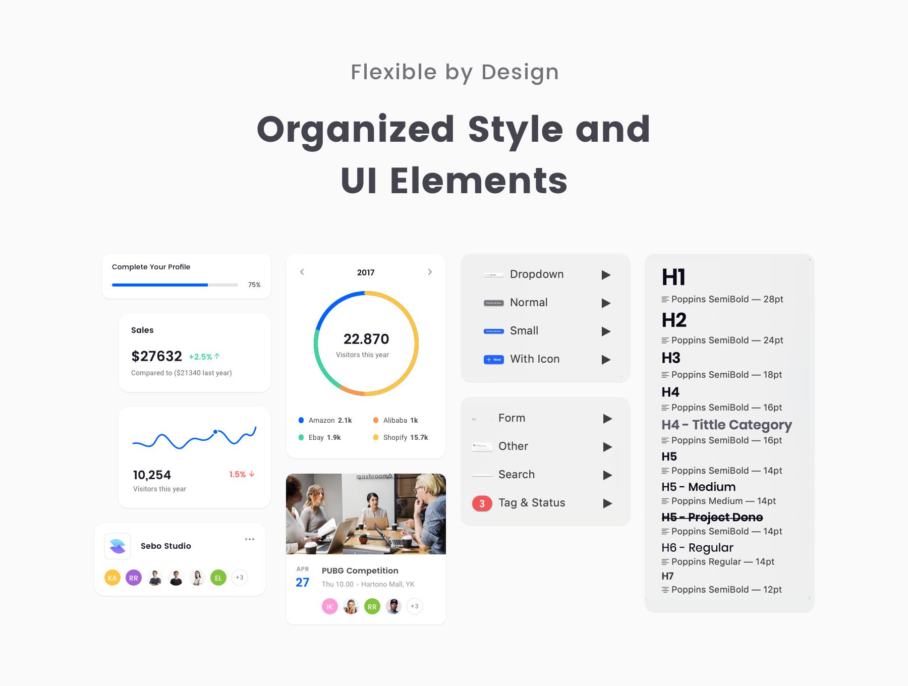 Square Dashboard UI Kit — UI Kits on UI8
