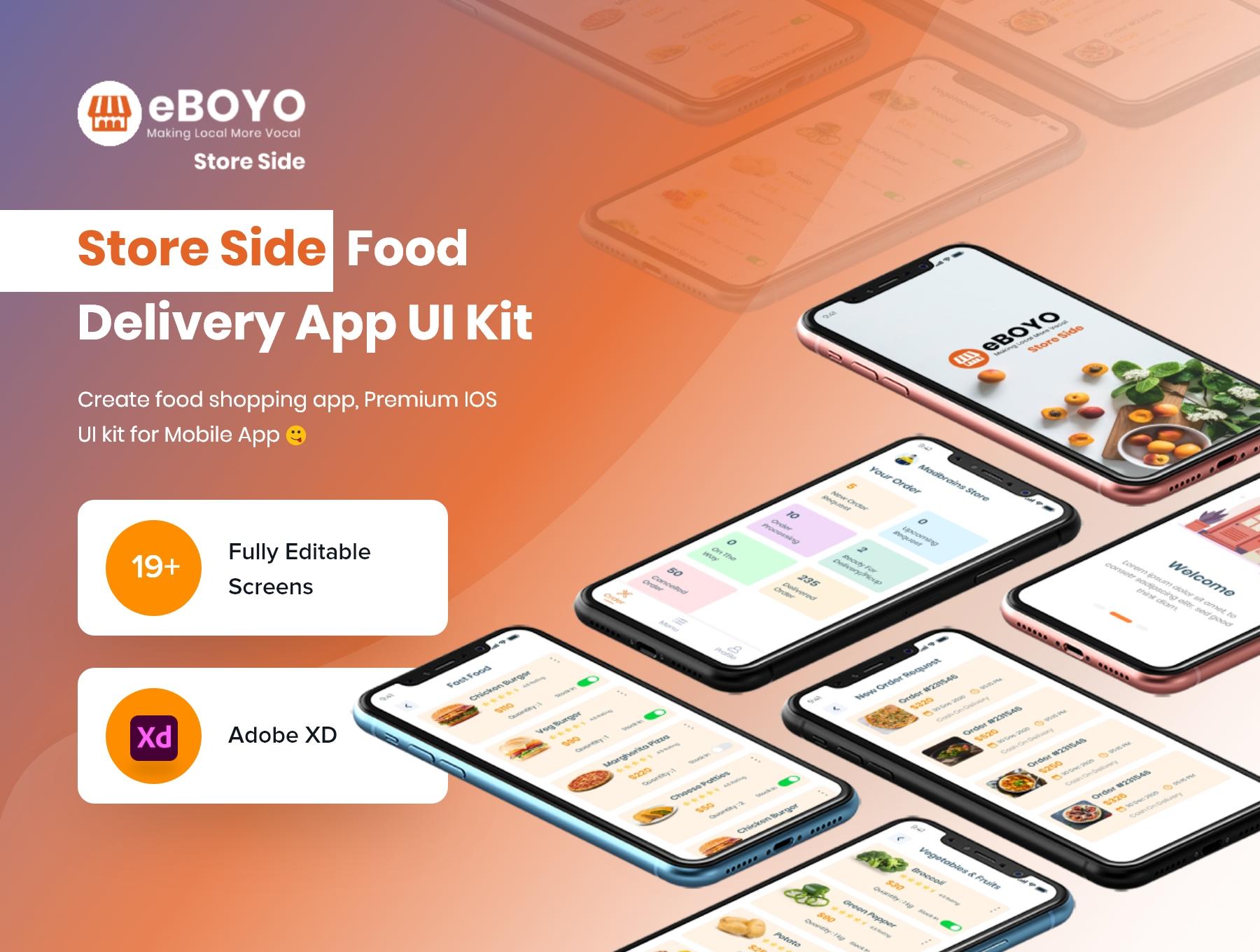eBOYO Store View - Best Seller Side Ecommerce UI Design Template Premium UI Kit For Adobe XD