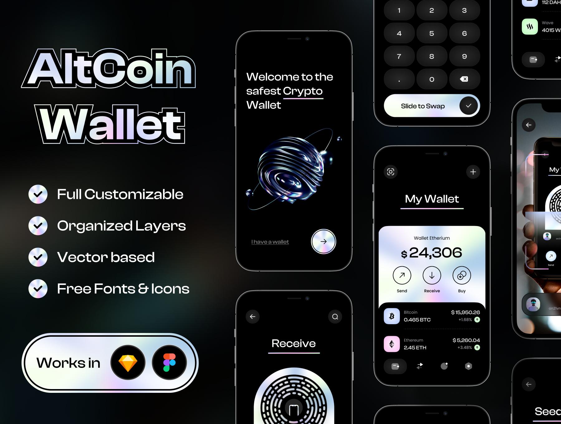 [VIP] Crypto Wallet UI Kit AltCoin Wallet