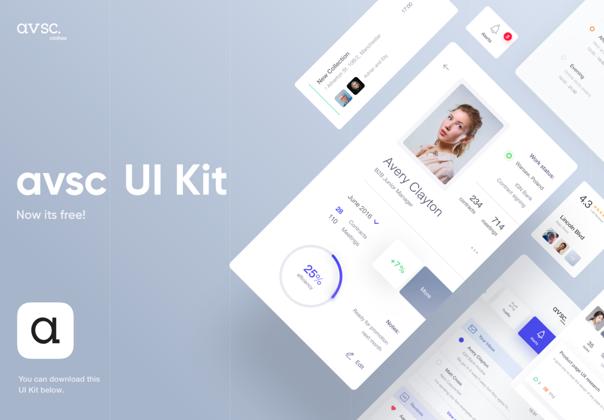 Avsc UI KIT — Design Freebies on UI8