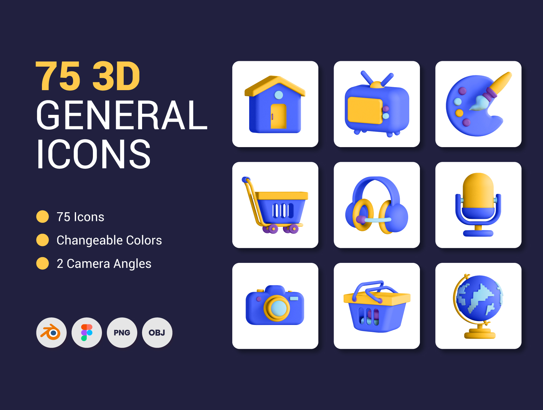 [VIP] 75 3D General Icons