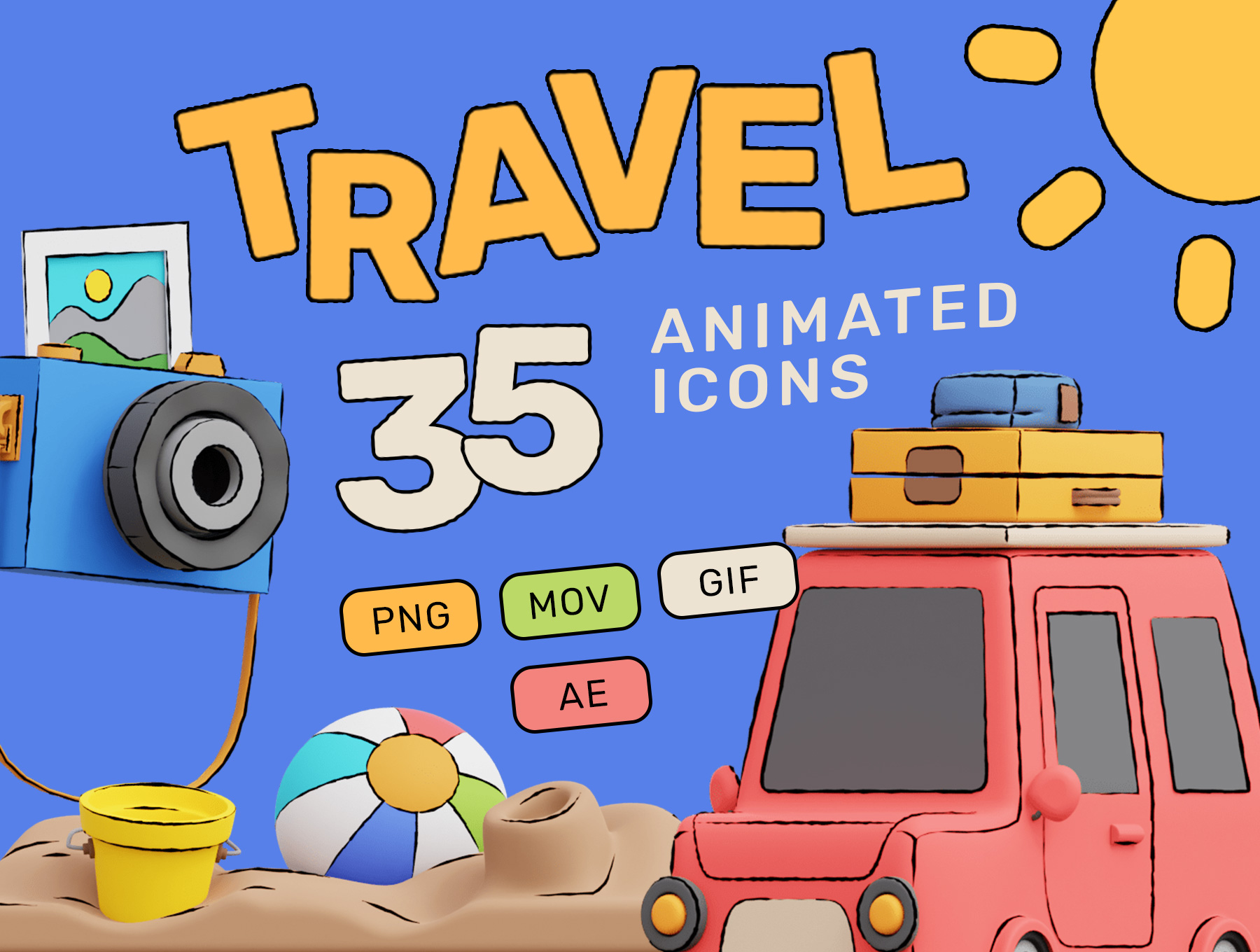 [VIP] HOP! Travel 3D Animated Pack