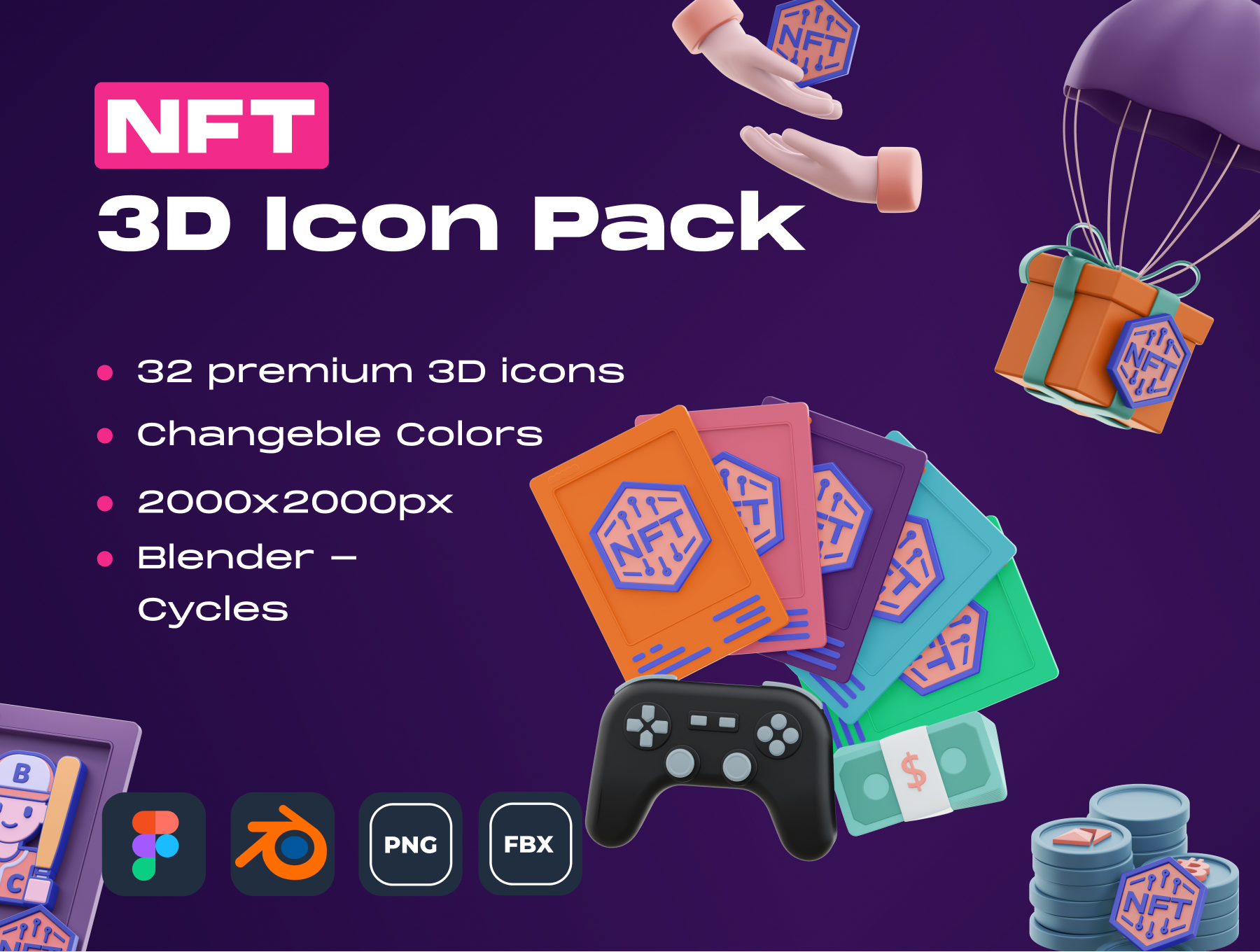 [VIP] NFT! 3D Icon Pack