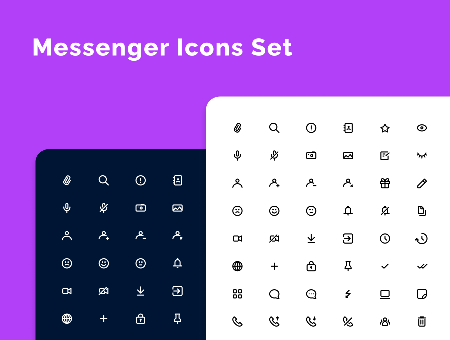 Messenger Icons Set