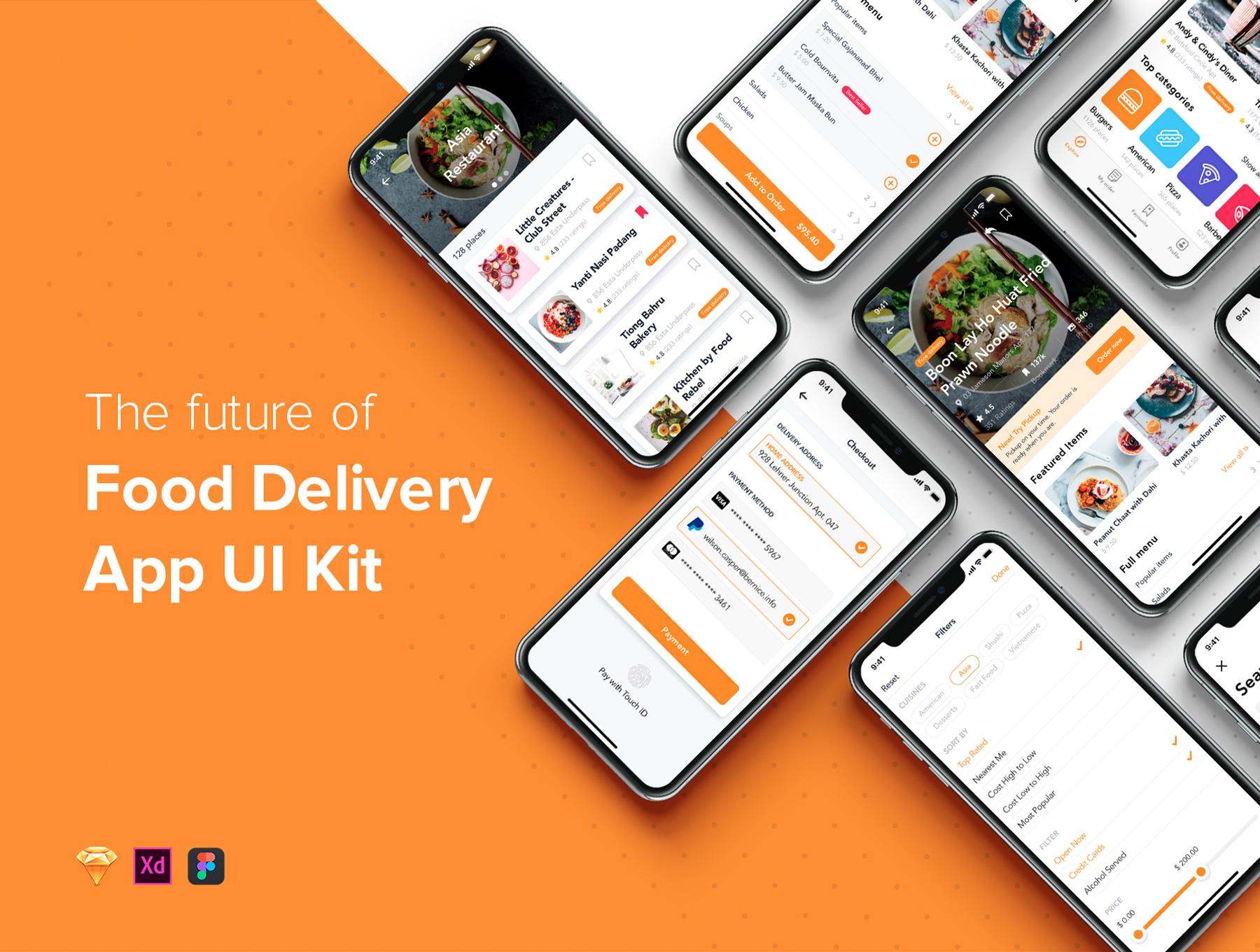 Fozzi - Food Delivery mobile app UI Kit — UI Kits on UI8