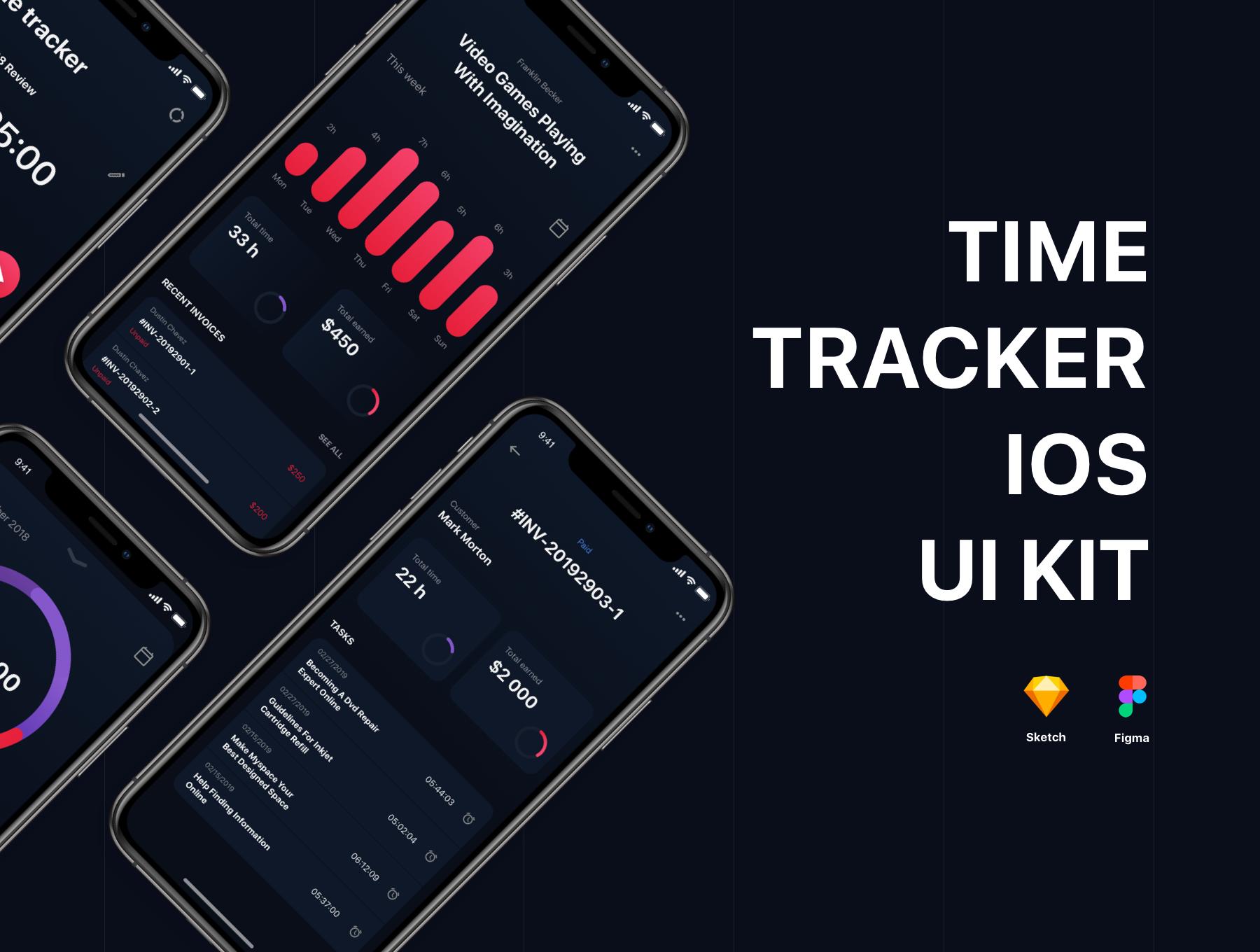 دانلود UI کیت آماده Timetracker