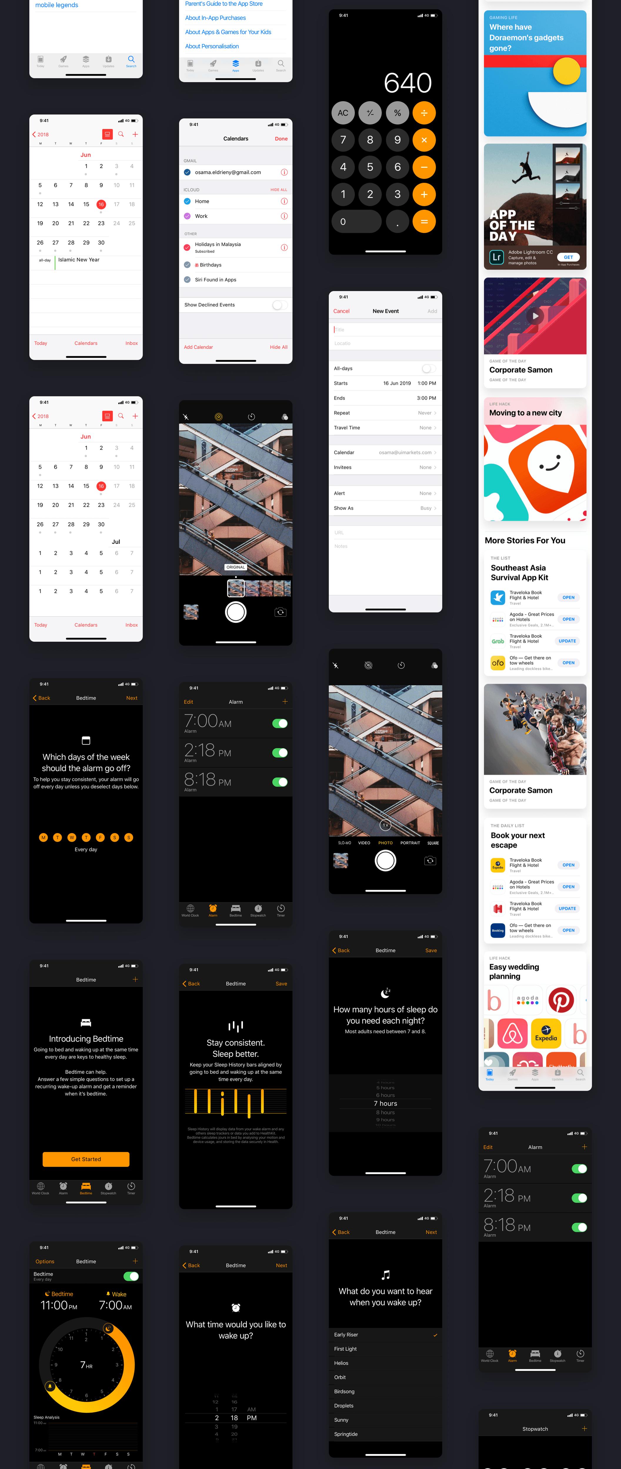 iOS12 GUI KIT — UI Kits on UI8