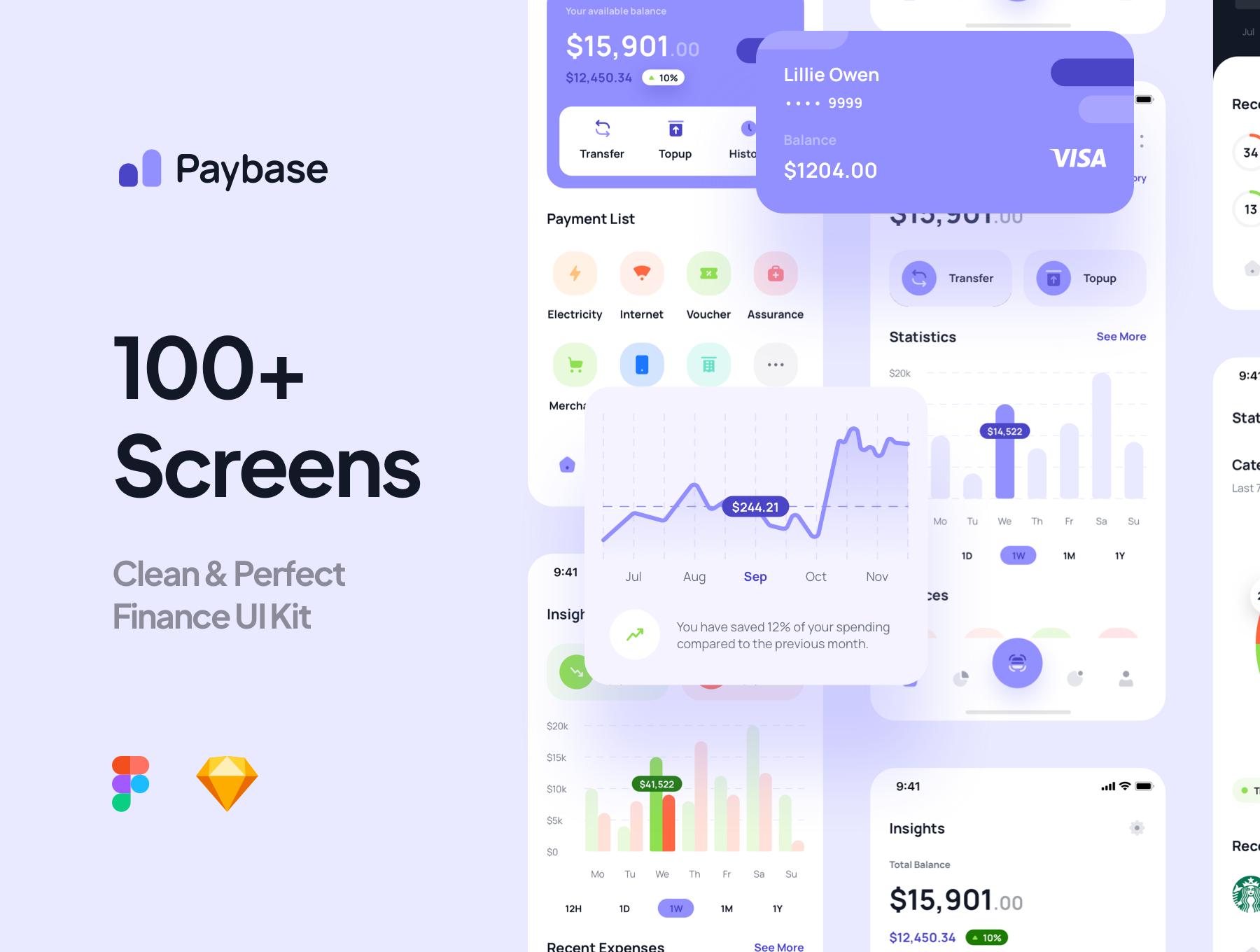 [VIP] Paybase - Finance App UI Kits