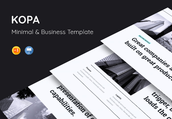 kopa business template presentation on ui8