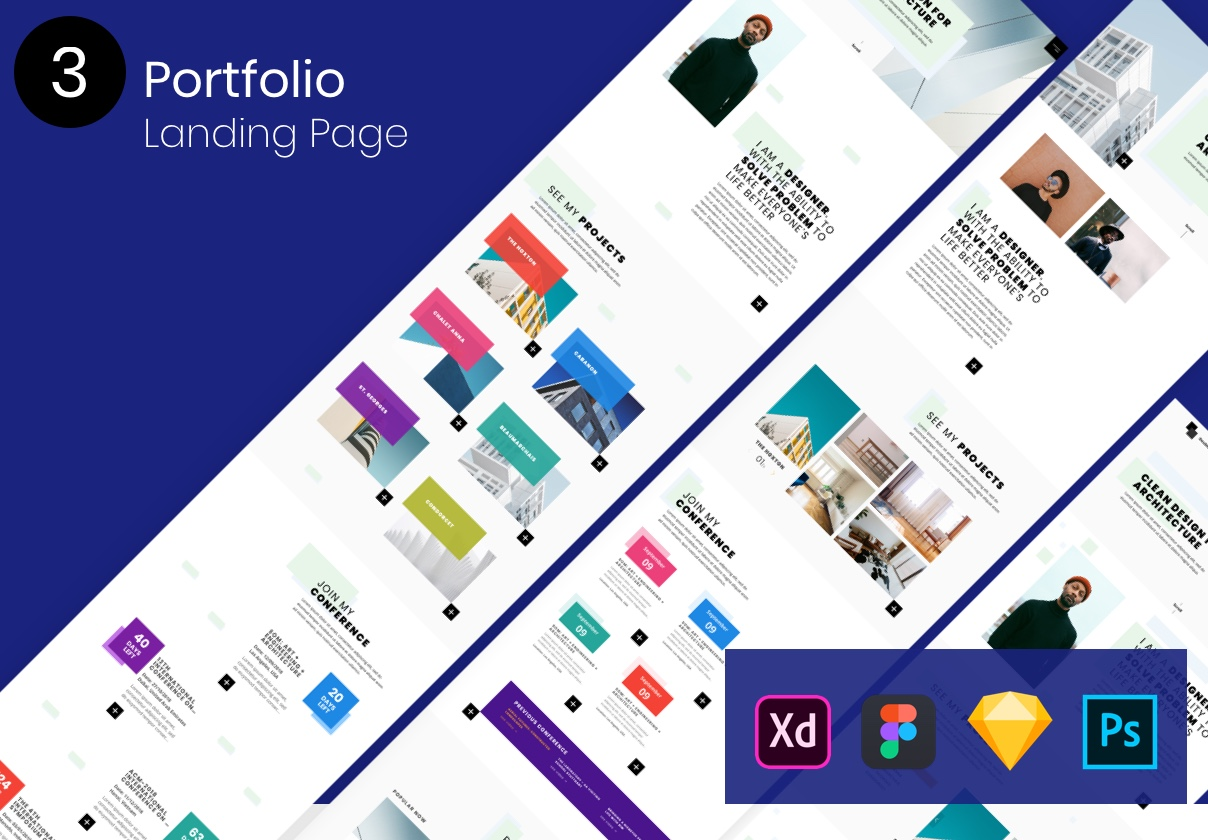 3 Portfolio Landing Pages Ui Kits On Ui8