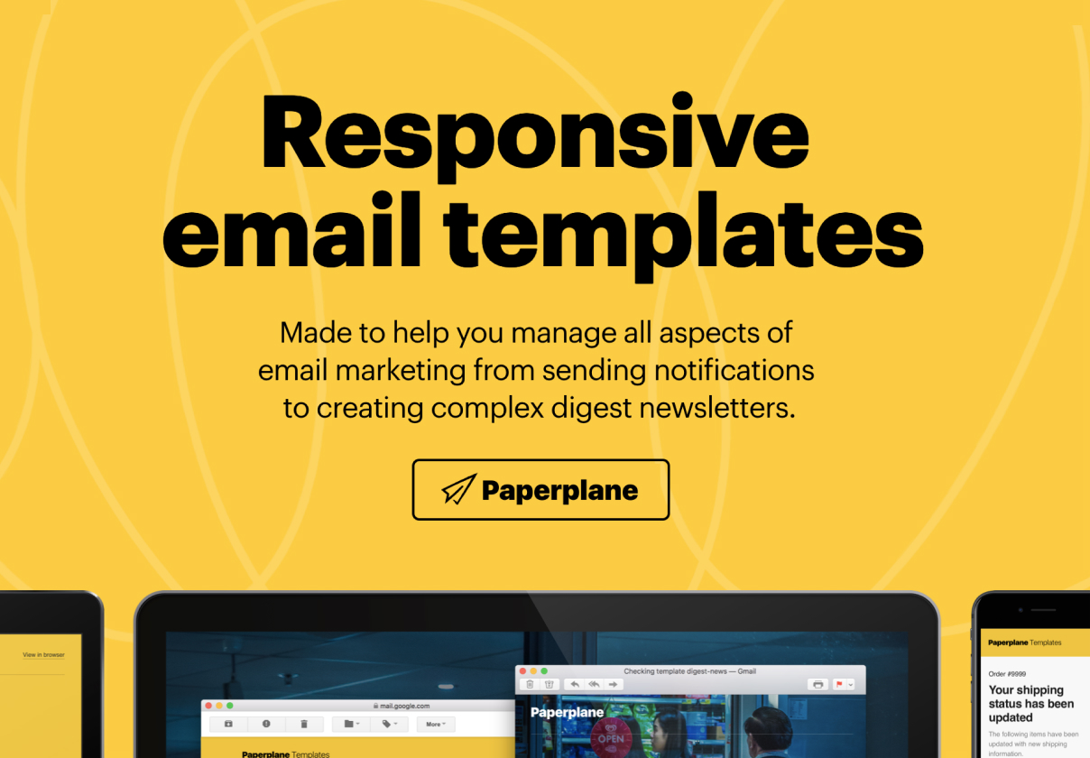 Paperplane Email Templates — Themes & Templates on UI8