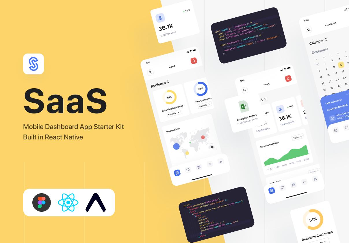 SaaS Dashboard App Starter Kit - React-Native