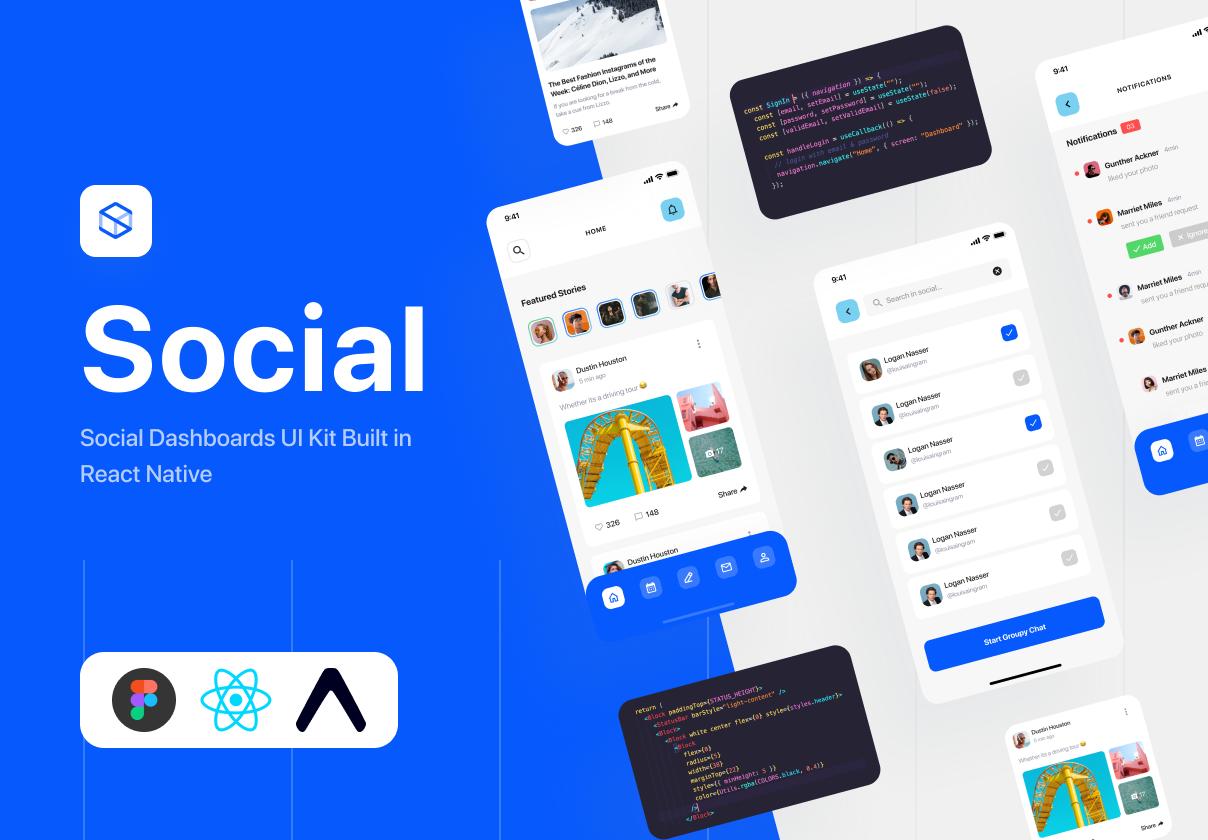 Social Dashboards - React Native Kit
