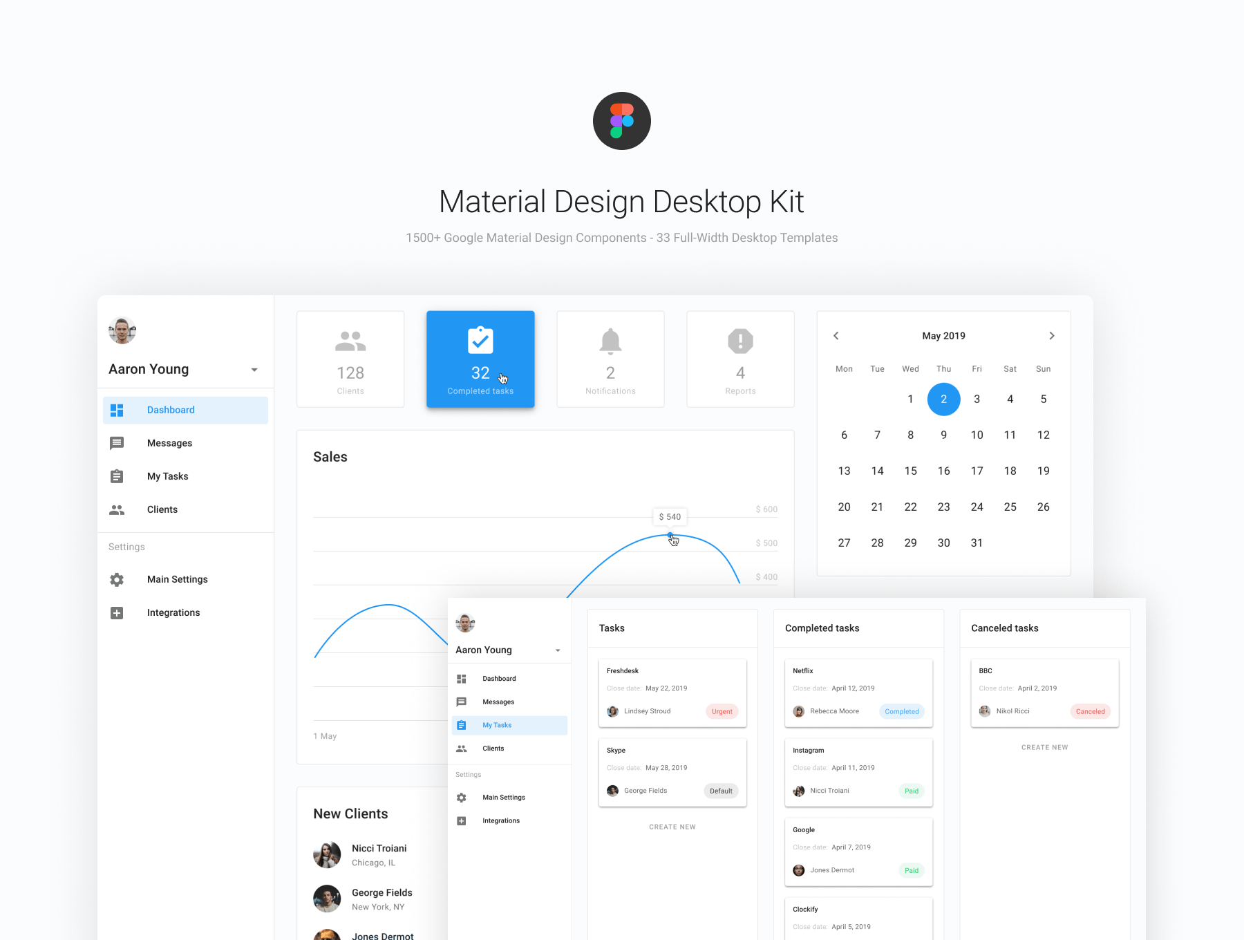 Figma Material Design Desktop UI Kit — UI Kits on UI8