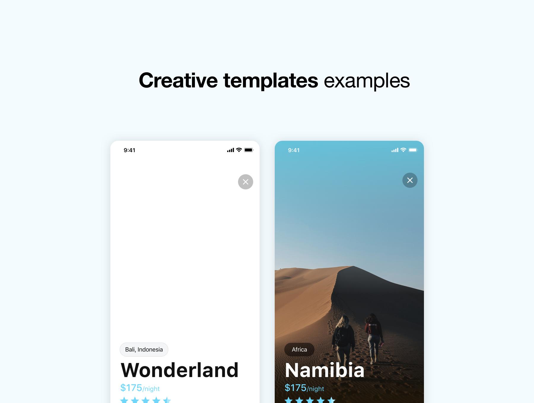 دانلود UI Kit اپلیکیشن موبایل wonderland